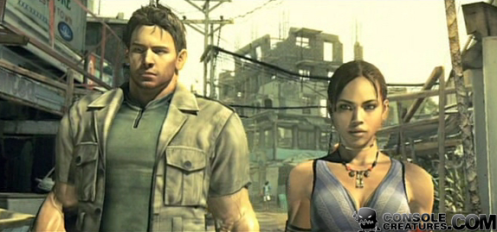 Chris and Sheva are currently not speaking. Something to do with not sharing power weapons or something.
