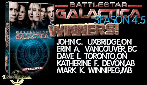 BATTLESTAR dvd winners