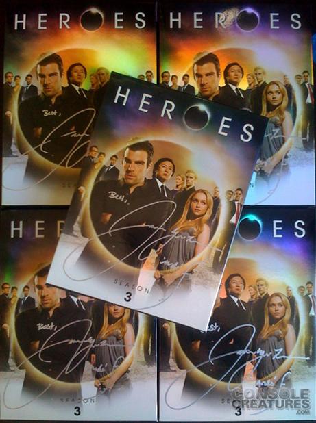 signed heroes Season3 DVD