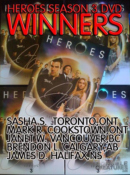signed heroes Season3 DVDWIINNERS