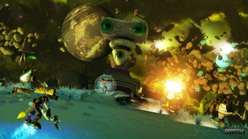 planet side missions Ratchet and Clank